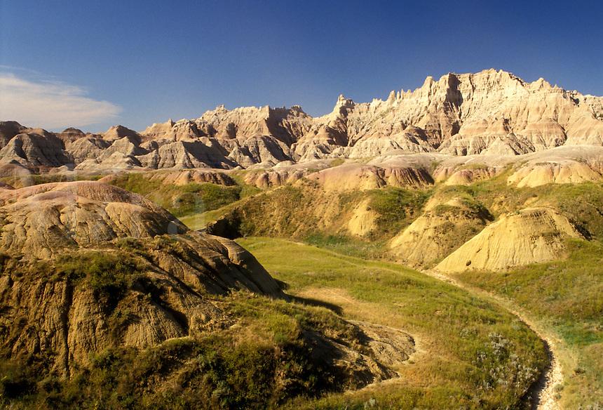 Badlands National Park, SD, South Dakota, Scenic view of Yellow Mounds in Badlands Nat'l Park in South Dakota.