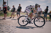 Maxime Bouet (FRA/Fortuneo-Samsic) at the end of pavé sector #9<br /> <br /> Stage 9: Arras Citadelle > Roubaix (154km)<br /> <br /> 105th Tour de France 2018<br /> ©kramon