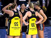 Action from the ANZ Premiership netball match between the Central Pulse and Mainland Tactix at TSB Bank Arena in Wellington, New Zealand on Sunday, 9 April 2017. Photo: Dave Lintott / lintottphoto.co.nz