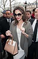 January 30 2018, PARIS FRANCE<br /> Actress Angelina Jolie arrives at the Guerlain<br /> Store in Champs Elysees Paris.