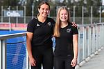 Olivia Shannon and Hope Ralph. Hockey Olympic Teams Announcement, National Hockey Centre, Auckland, New Zealand. Thursday 10 June 2021 Photo: Simon Watts/www.bwmedia.co.nz