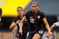 14 MAY 2011: USA Women's National Team forward Alex Morgan (13) during the International Friendly soccer match between Japan WNT vs USA WNT at Crew Stadium in Columbus, Ohio.
