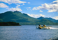 Military rescue aircraft, Goose, now used for civilian transport, Karluk lake, Kodiak, Alaska.