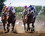 June 07, 2014: Close Hatches with Joel Rosario (left) wins the Ogden Phipps Stakes  on Belmont Stakes day at Belmont Park in Elmont New York. Alex Evers/ESW/CSM
