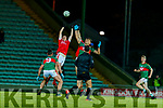 Ronan Buckley, East Kerry in action against Colin McGillycuddy, Mid Kerry during the Kerry County Senior Football Championship Final match between East Kerry and Mid Kerry at Austin Stack Park in Tralee on Saturday night.