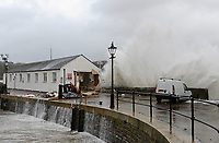 2017 10 21 Storm Brian affects Tenby, Wales, UK