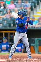 Jose Lobaton (59) of the Las Vegas 51s at bat during a game against the Oklahoma City Dodgers at Chickasaw Bricktown Ballpark on June 17, 2018 in Oklahoma City, Oklahoma. Oklahoma City defeated Las Vegas 5-3  (William Purnell/Four Seam Images)