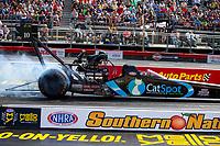 May 4, 2018; Commerce, GA, USA; NHRA top fuel driver Scott Palmer during qualifying for the Southern Nationals at Atlanta Dragway. Mandatory Credit: Mark J. Rebilas-USA TODAY Sports