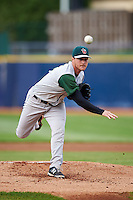 Fort Wayne TinCaps pitcher T.J. Weir (6) delivers a pitch during a game against the Lake County Captains on May 20, 2015 at Classic Park in Eastlake, Ohio.  Lake County defeated Fort Wayne 4-3.  (Mike Janes/Four Seam Images)