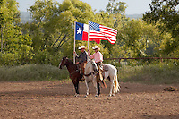 BOERNE, TX - AUGUST 13, 2005: The Corral Club Ring of Fire Ranch Rodeo at the Kendall County Fairgrounds. (Photo by Jeff Huehn)