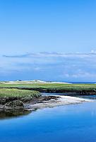 Salt marsh coastal landscape, Sandy Neck, Cape Cod, Massachusetts, USA.