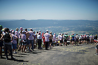 waiting for the peloton up the Grand Colombier (HC/1501m/12.8km/6.8%)<br /> <br /> stage 15: Bourg-en-Bresse to Culoz (160km)<br /> 103rd Tour de France 2016