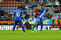 Tuesday, 7 May 2013<br /> <br /> Pictured: Shaun Maloney of Wigan Athletic and Garry Monk<br /> <br /> Re: Barclays Premier League Wigan Athletic v Swansea City FC  at the DW Stadium, Wigan