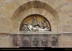 Lamentation Lunette with Heraldic Shields Chiesa di San Giuseppe Florence