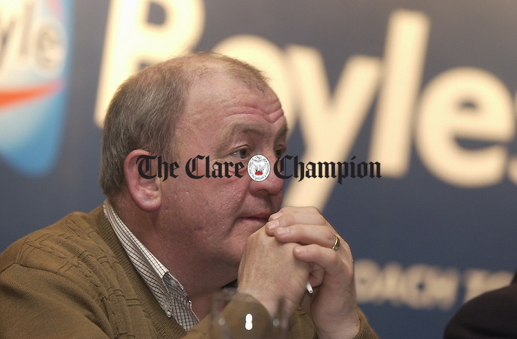 Trainer of Ireland's Gold Cup hope Beef Or Salmon, Michael Hourigan at the  Boylesports Cheltenham Preview night in the West County Hotel. Photograph by John Kelly.
