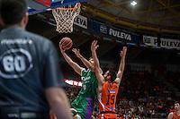 VALENCIA, SPAIN - MARCH 27: Fernando San Emeterio, Dani Diez during ENDESA LEAGUE Play Off match between Valencia Basket Club and Unicaja at Fonteta Stadium on March, 2016 in Valencia, Spain