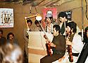 Iraq 1981 .In Nawzang, celebration of christmas with musicians. Arsalan Baez making a speech   .Irak 1981.L'orchestre de Noel a Nawzang, avec une presentation par Arsalan Baez