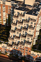 aerial view, Esplanade condominium, Cambridge, MA (Moshe Safdi, architect)