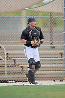 GCL Marlins catcher Keegan Fish (7) during a Gulf Coast League game against the GCL Astros on August 8, 2019 at the Roger Dean Chevrolet Stadium Complex in Jupiter, Florida.  GCL Marlins defeated GCL Astros 5-4.  (Mike Janes/Four Seam Images)