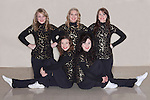 December 3, 2013- Tuscola, IL- The 2013-2014 Warriorette Seniors. Back row from left are Taylor Grace, Lauren Moss, and Kirstin Kern. Front row from left are Rachel Pflum and Laura Murphy. [Photo: Douglas Cottle]