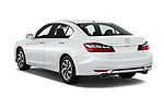 Car pictures of rear three quarter view of 2017 Honda Accord EX-L 4 Door Sedan Angular Rear