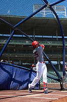 Dylan Crews (25) during the Under Armour All-America Game, powered by Baseball Factory, on July 22, 2019 at Wrigley Field in Chicago, Illinois.  Dylan Crews attends Lake Mary High School in Longwood, Florida and is committed to LSU.  (Mike Janes/Four Seam Images)