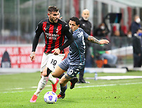 Milano 01-05 2021<br /> Stadio Giuseppe Meazza<br /> Serie A  Tim 2020/21<br /> Milan - Benevento<br /> Nella foto:   Theo Hernandez                                   <br /> Antonio Saia Kines Milano