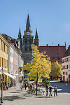 Germany, Bavaria, Middle Franconia, Ansbach: Martin-Luther-Square and St Gumbertus church | Deutschland, Bayern, Mittelfranken, Ansbach: Martin-Luther-Platz mit St. Gumbertus Kirche