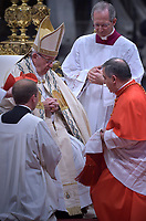 Cardinal Giovanni Angelo Becciu, Pope Francis leads a consistory for the creation of five new cardinals  at St Peter's basilica in Vatican on  June 28, 2018