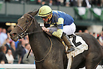 """October 04, 2014: Leigh Court and Gary Boulanger win the 34th running of the Thoroughbred Club of America Grade 2 """"Win and You're In Filly & Mare Sprint Division"""" $200,00, at Keeneland Racecourse for owner Melnyk Racing and trainer Josie Carroll .  Candice Chavez/ESW/CSM"""