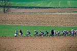 Peloton at the 3 star cobblestone sector 25 from Saint-Hilaire to Saint-Vaast during the 2018 Paris-Roubaix race, France, 8 April 2018, Photo by Thomas van Bracht / PelotonPhotos.com | All photos usage must carry mandatory copyright credit (Peloton Photos | Thomas van Bracht)