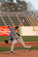 Kent State Golden Flashes pitcher Eric Lauer (10) on the mound during a game against the University of Virginia Cavaliers at Ticketreturn.com Field at Pelicans Ballpark on February 19, 2016 in Myrtle Beach, South Carolina. Virginia defeated Kent State 8-6. (Robert Gurganus/Four Seam Images)