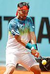 Fabio Fognini, Italia, during Madrid Open Tennis 2016 match.May, 4, 2016.(ALTERPHOTOS/Acero)