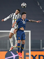 Football Soccer: UEFA Champions League -Round of 16 2nd leg Juventus vs FC Porto, Allianz Stadium. Turin, Italy, March 9, 2021.<br /> Juventus' Cristiano Ronaldo (L) in action with Porto's Otavio (R) during the Uefa Champions League football soccer match between Juventus and Porto at Allianz Stadium in Turin, on March 9, 2021.<br /> UPDATE IMAGES PRESS/Isabella Bonotto