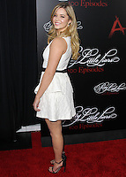 HOLLYWOOD, LOS ANGELES, CA, USA - MAY 31: Sasha Pieterse at the 'Pretty Little Liars' 100th Episode Celebration held at W Hotel Hollywood on May 31, 2014 in Hollywood, Los Angeles, California, United States. (Photo by Xavier Collin/Celebrity Monitor)