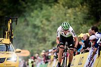 Roman Kreuziger (CZE/Dimension Data) up the gravel section in the final stretch to the finish line up La Planche des Belles Filles<br /> <br /> Stage 6: Mulhouse to La Planche des Belles Filles (157km)<br /> 106th Tour de France 2019 (2.UWT)<br /> <br /> ©kramon