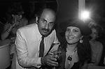 STELLARIO BACCELLIERI E SHARY AVAKIAN<br /> FESTA PER I 10 ANNI DI PLAYBOY<br /> PIPER  CLUB ROMA 1980