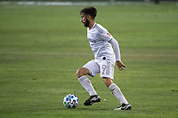 SAN JOSE, CA - NOVEMBER 04: Diego Rossi #9 of the Los Angeles FC dribbles the ball during a game between Los Angeles FC and San Jose Earthquakes at Earthquakes Stadium on November 04, 2020 in San Jose, California.