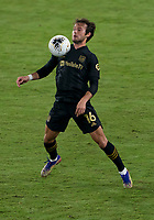 22nd December 2020, Orlando, Florida, USA;  LAFC Daniel Musovski (16) receive a pass during the Concacaf Champions League Final between the LAFC and Tigres on December 22, 2020 at Explorer Stadium in Orlando, FL.