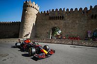 4th June 2021; Baku, Azerbaijan; Free practise sessions;  33 VERSTAPPEN Max nld, Red Bull Racing Honda RB16B, action during the Formula 1 Azerbaijan Grand Prix 2021 at the Baku City Circuit, in Baku, Azerbaijan
