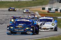 #007 Aston Martin, James Davison, David Block, Christna Nielsen, Petit Le Mans , Road Atlanta, Braselton, GA, October 2014.   (Photo by Brian Cleary/www.bcpix.com)