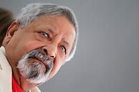 Il premio Nobel 2001 per la letteratura Vidia Naipaul<br /> Barolo 7/7/2013 <br /> Festival Collisioni 2013<br /> Foto Marco Bertorello Insidefoto