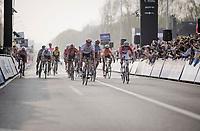 Sprint for 3rd is won by Alexander Kristoff (NOR/UAE)<br /> <br /> 103rd Ronde van Vlaanderen 2019<br /> One day race from Antwerp to Oudenaarde (BEL/270km)<br /> <br /> ©kramon
