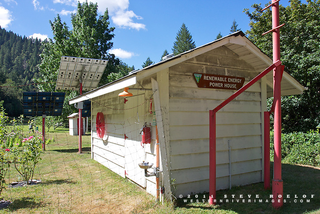 Renewable energy power house at the historic Rogue River Ranch.