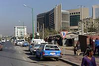 ETHIOPIA, Addis Ababa, construction of new African Union building by chines company / AETHIOPIEN, Addis Abeba, Neubau Gebaeude der Afrikanischen Union durch eine chinesische Baufirma