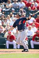 March 10,2009: Intfielder Ryan Garko (25) of the Cleveland Indians at Tempe Diablo Stadium in Tempe, AZ.  Photo by: Chris Proctor/Four Seam Images