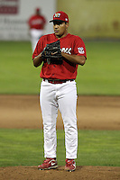 Batavia Muckdogs pitcher Daniel Miranda #40 during a game against the Jamestown Jammers at Dwyer Stadium on June 28, 2011 in Batavia, New York.  Jamestown defeated Batavia 5-1.  (Mike Janes/Four Seam Images)