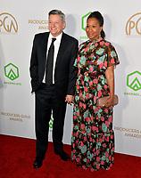 SANTA MONICA, USA. January 18, 2020: Ted Sarandos & Nicole Avant at the 2020 Producers Guild Awards at the Hollywood Palladium.<br /> Picture: Paul Smith/Featureflash