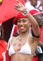 Trinidad fan waves to the photographers. England defeated Trinidad & Tobago 2-0 in their FIFA World Cup group B match at Franken-Stadion, Nuremberg, Germany, June 15 2006.