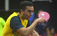 BARRANQUILLA - COLOMBIA, 20-07-2018: Julian Ramos de Colombia durante su participación en la categoría de tenis de mesa como parte de los Juegos Centroamericanos y del Caribe Barranquilla 2018. /  Julian Ramos of Colombia during his participation in the Table Tennis category of the Central American and Caribbean Sports Games Barranquilla 2018. Photo: VizzorImage / Alfonso Cervantes / Cont